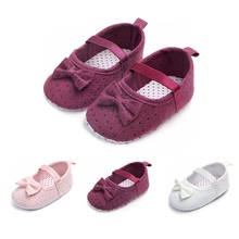2018 Baby Boy Shoes Spring Autumn Bow Classic Canvas Cotton