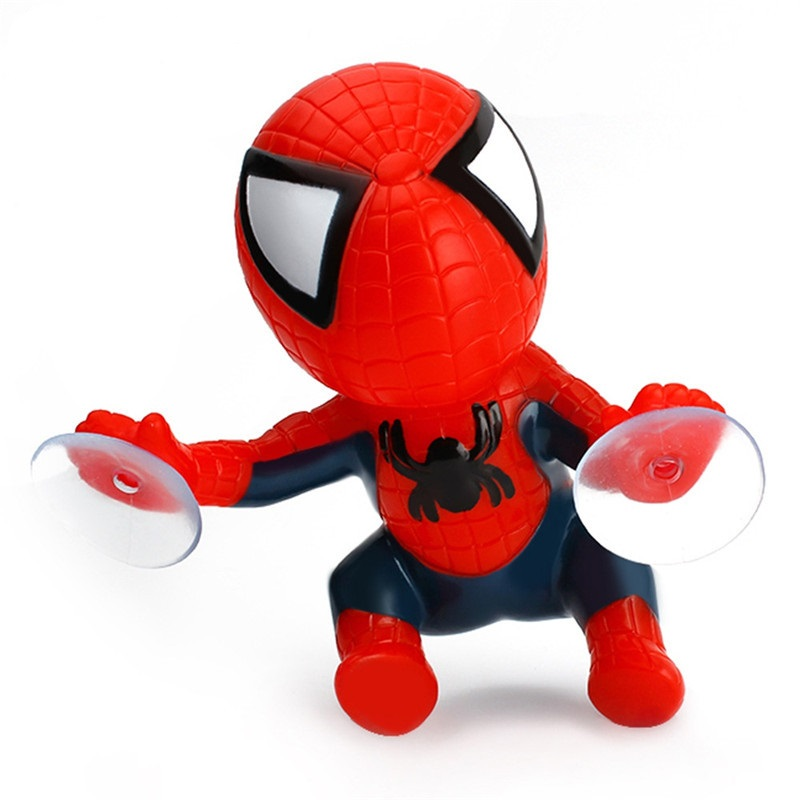 Climbing Spiderman Sucker Doll 360 Degree Rotating Cute 16cm Car Interior Decoration Ornaments Styling Dashboard Accessories in Ornaments from Automobiles Motorcycles