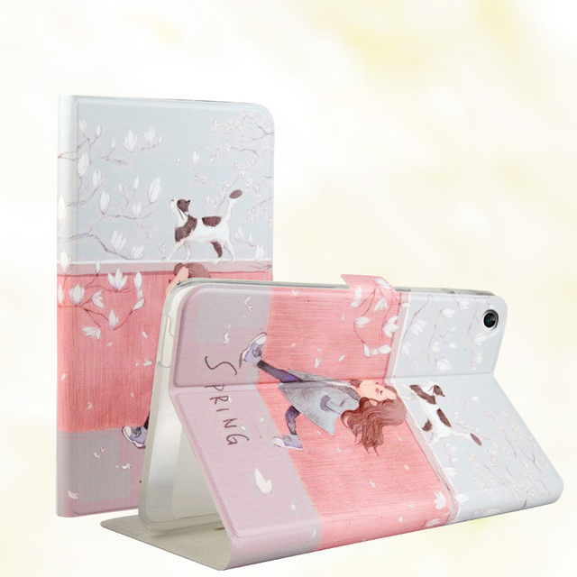 For Huawei Mediapad T1 T1-701/T1-701U/T1-701W 7.0 inch Tablet Fashion painted Pu leather stand holder Cover Case + Gift