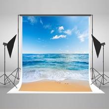 Свадебное Фото Фон Голубое Небо Белые Облака Photo Booth Фонов Море Белый Спрей Пляж Фон для Фотостудия