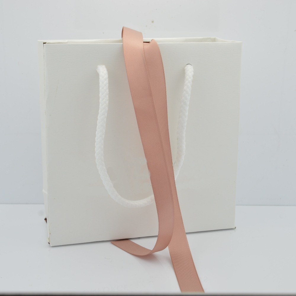 wholesale 10 Pcs Classic Style White Paper Gift Bag 16*16*6 cm Box Packaging Bag Compatible with pan Jewelry Bag
