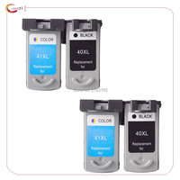 4PCS Remanufactured Printer Cartridge For Canon Pg40 Cl41 For Canon 40 41 For Canon PIXMA IP2500