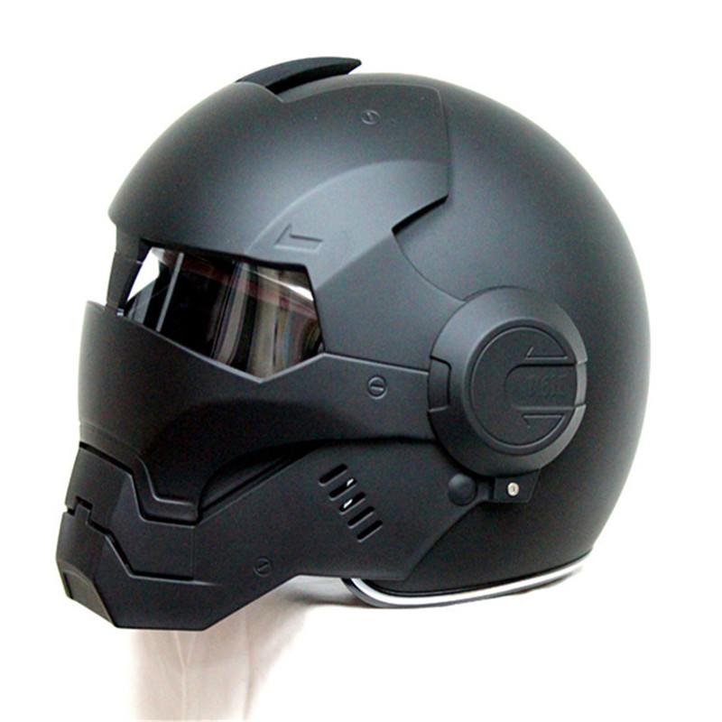 100% Original MASEI 610 IRONMAN Motorcycle Skull Open Face Helmet Casco Capacete Flip Up Motorcycle Helmet DOT approved