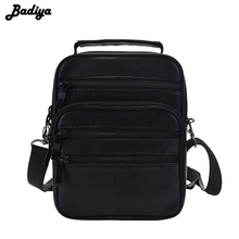 Casual Men's Business Genuine Leather Mini Crossbody Bag Sheepskin Small Men Single Shoulder Messenger Bags High Quality Bolsa
