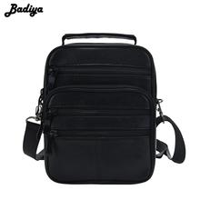 Casual Men's Business Genuine Leather Mini Crossbody Bag Sheepskin Small Men Single Shoulder Messenger Bags High Quality Bolsa