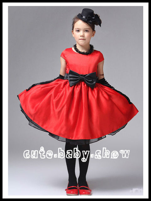 2013 Hot Sell Kids Dresses Fashion Girl Lace Dress with Bow 2 Colors to choose!