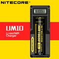 Minúsculo Digi UM10 Nitecore Intellicharger Carregador de Bateria Original De Lítio Carregador com Tela LCD de 17500 18650 16340 14500