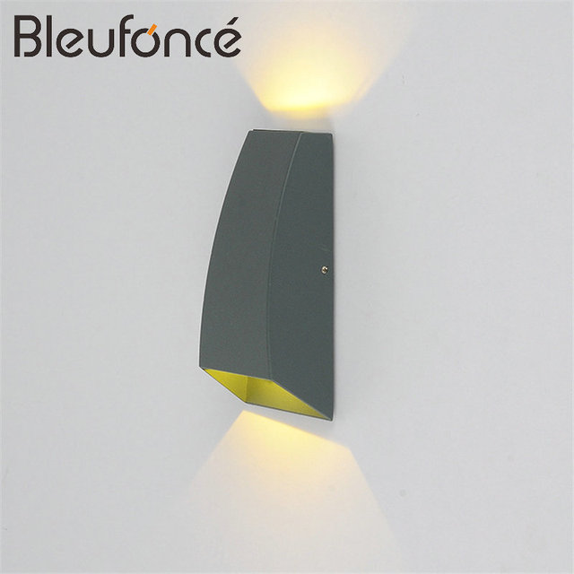 outdoor up down lights 10xpcs outdoor waterproof led wall lamp 6w lighting up down light aluminum sconce