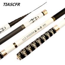 TIASCFR Телескопическая Удочка 3,6 м-7,2 м из углеродного волокна ультра-легкий Супер жесткий литой стержень ручной полюс для ловли карпа