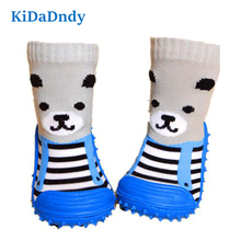 kidadndy Newborn Anti Slip Socks Toddler Indoor Floor Shoes Infant Learning To Walk Cotton Baby Socks With Rubber Soles LMY496