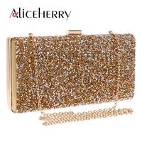 Diamond Crystal Evening Clutch Purse Wedding Prom Women Wedding Box Bag