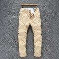 Большой размер 28 ~ 40 классический бегунов мужчины свободного покроя брюки мода свободного покроя тонкий мужские брюки цвета хаки брюки летние хлопковые брюки мужчины