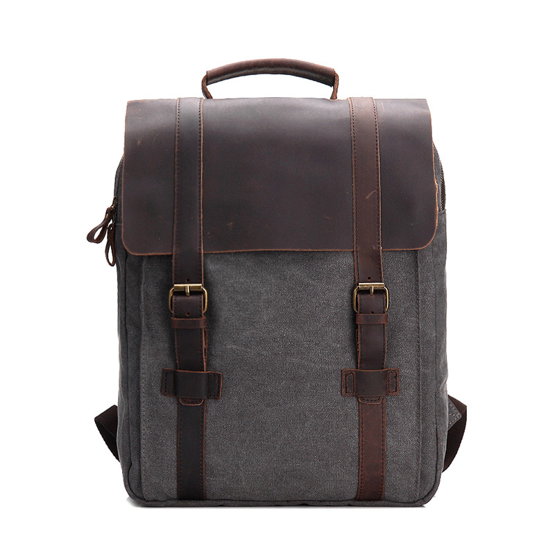 Vintage Canvas Women Backpack Female Men School Bag Rucksack Casual Leisure Travel Bag Unisex Men's Laptop Backpacks #M1820 new vintage backpack canvas men shoulder bags leisure travel school bag unisex laptop backpacks men backpack mochilas armygreen