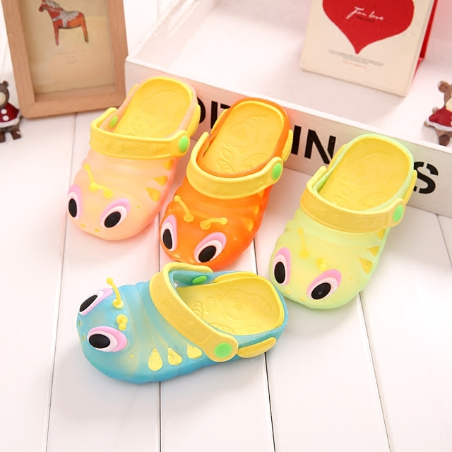 Baby toddler Slippers caterpillar anti-skid sandals boys and girls children slippers beach shoes cartoon cute animals summer