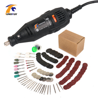 TUNGFULL Dremel 130w Polished Engraved Power Tool With 288pcs Dremel Accessories Electric Woodworking Tools Mini Drill Engraver