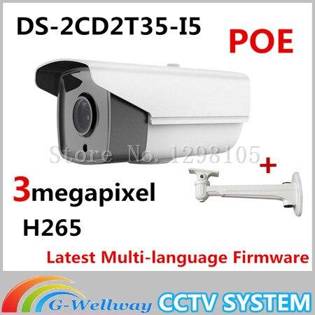 2015 New arrival DS-2CD2T35-I5 3MP EXIR Bullet POE 1080P cameras POE CCTV IP network cameras H265 IPC original new arrival ds 2cd2t35 i5 3mp exir bullet poe 1080p cameras poe cctv ip network cameras ir h265 ipc