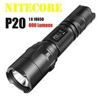 1 pc nitecore p20 p20uv uv 손전등 cree XM-L2 (t6) led 800 루멘 전술 손전등 1*18650 배터리 + 무료 배송
