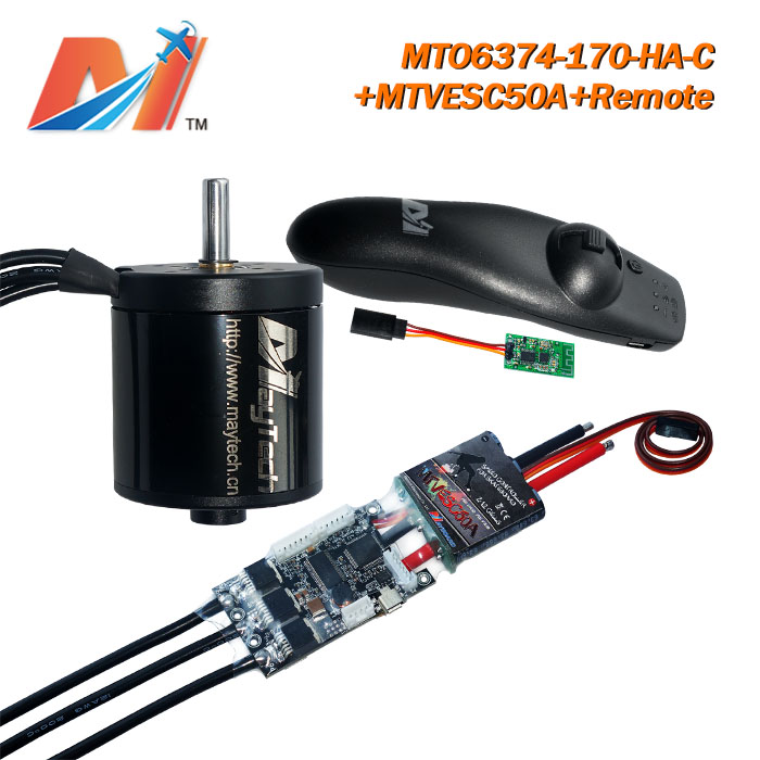 Maytech 3pcs 6374 electric skateboard motor and SuperESc Based on vedder VESC 3.3 firmware and