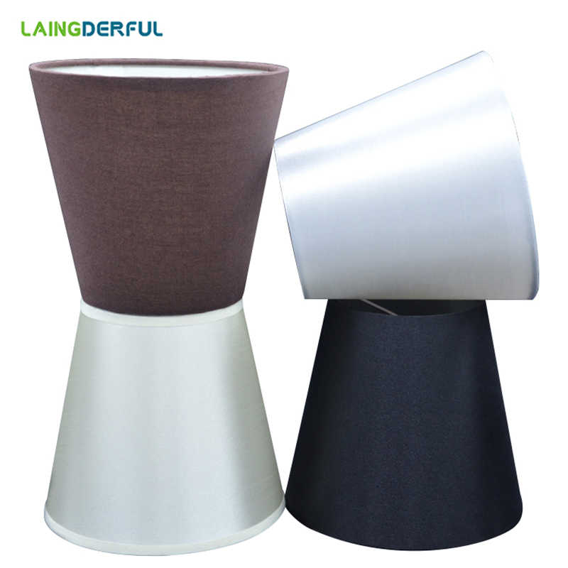 LAINGDERFUL Modern Cloth Art Inner Film Lampshade Nordic Simplicity Light Shade Solid Lamp Shades for Table Lamps