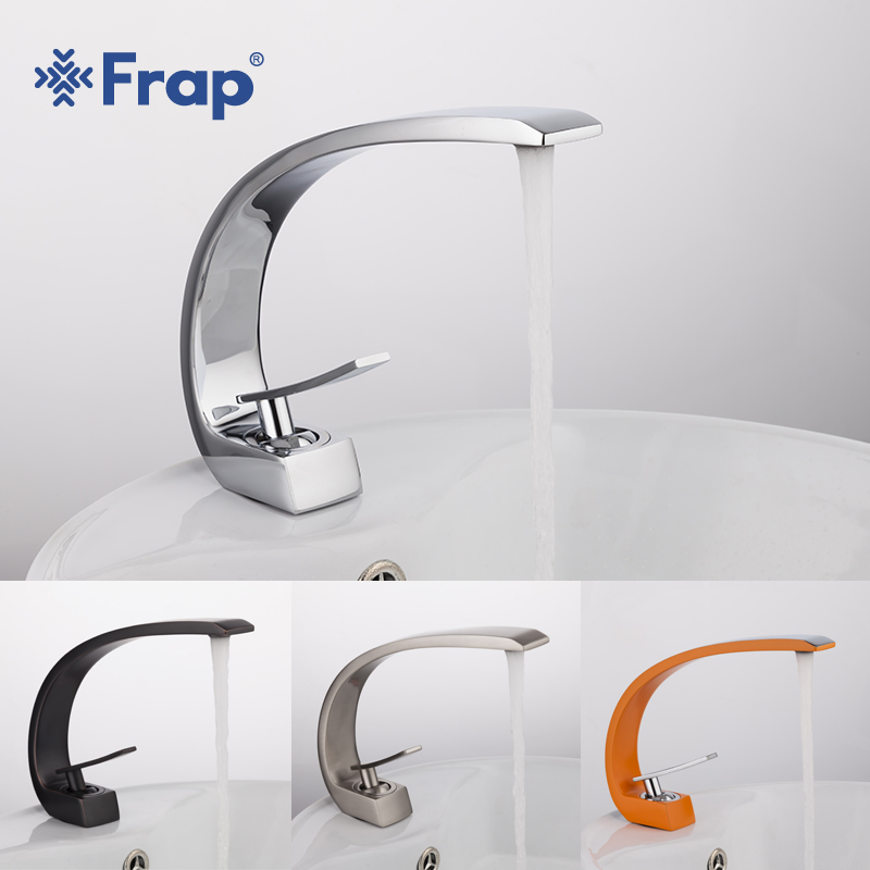 Frap new bath Basin Faucet Brass Chrome Faucet Brush Nickel Sink Mixer Tap Vanity Hot Cold