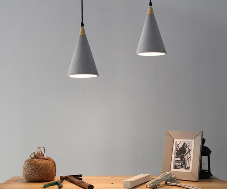 Moderne Lampen 82 : Lukloy industrielle moderne beton anhänger licht vintage zement