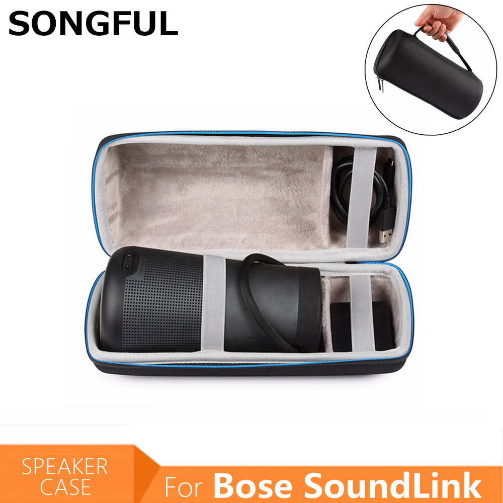 Column Sound Link Portable Storage Carrying Bag Pouch Protective Case Cover for Bose SoundLink Revolve Plus Bluetooth Speaker leory portable speaker case for bose soundlink mini multilayer protective speaker bag pouch extra space for plug
