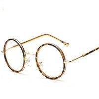 2016 Women Sunglasses Men Plain High Quality Eyewear Stylish UV 400 Metal Round Female Work Transparent