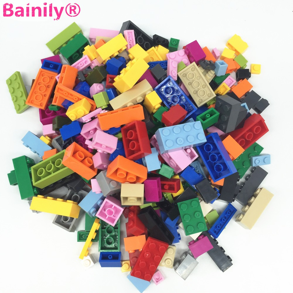 [Bainily]1000Pcs DIY City Creative Building Blocks Bricks Educational toys Compatible With LegoINGly Bricks 1000pcs bulk bricks educational children toy compatible with major brand blocks 10 colors diy building blocks creative bricks