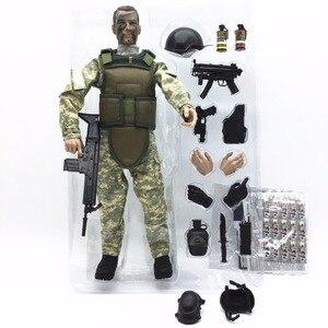Image 4 - PATTIZ 1/6 12 SWAT Action Figure Model toys Military Army Combat Game Toys boys birthday  Free shipping