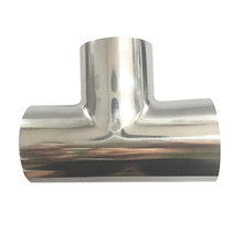 OD57-159mm Tri Clamp Long Tee SS304 Stainless Steel Food Grade Tri Clover Compatible Pipe Fitting(China)