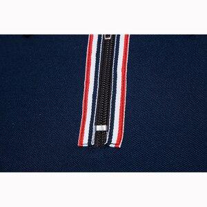Image 4 - Polo à manches courtes pour homme, flambant neuf, slim, design en coton, avec fermeture éclair, respirant, grande taille, EU, 2018