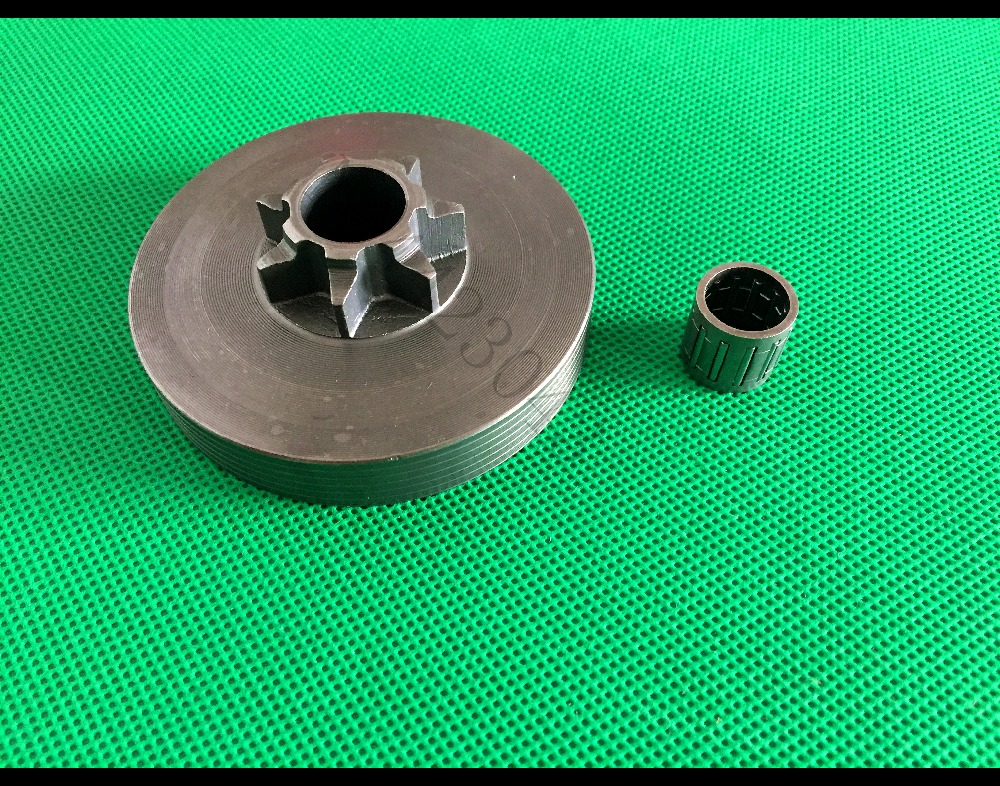 .325-7T Clutch Bell Drive Spur Sprocket Drum With Needle Bearing For Chinese Chainsaw 4500 45cc 5200 52cc 5800 58cc Spare Parts