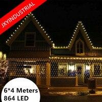 LED Net Light 6M* 4M 860 Leds Meshwork Lamp String Liht Curtain Xmas Wedding Party Holiday Christmas Fairy Lighting