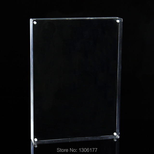 Photo Frame Double Sided Acrylic Magnetic Frame With Polished Edges