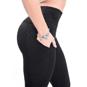 Image 2 - 2019 Fashion high waist Elastic leggings for fitness female new arrivals sports legging workout plus size stretch pants Legins