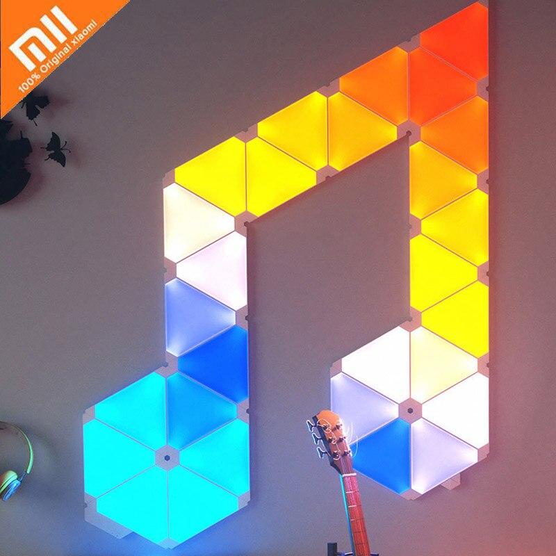 Nouveau Xiaomi Nanoleaf coloré Smart lumière panneau travail avec Mijia pour Apple Homekit Google maison intelligente réglage personnalisé 4 pièces/1 boîte