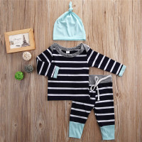 Baby Boy Clothes 2016 Autumn Baby Girl Clothing Sets Newborn Cotton Pirate Printed Long Sleeved T