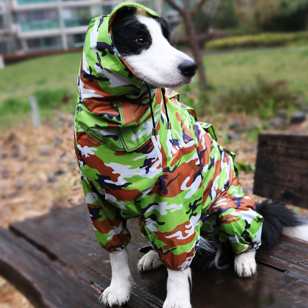 Camouflage Color Dog Raincoats Outdoor Travel Dog Rain Slicker Clothes Small Dogs And Big Dogs XXXS-5XL
