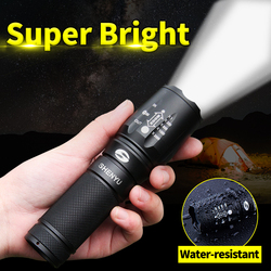 SHENYU LEVOU Lanterna 18650 26650 Lanterna À Prova D' Água Cree XML t6 1000 lumen Zoomable Luz