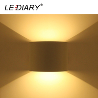 LEDIARY Modern LED Wall Lamp Round 110 240V 6W 12W Waterproof IP44 Balcony Lights Two Ways Light Outdoor Sconce Angle Adjustable