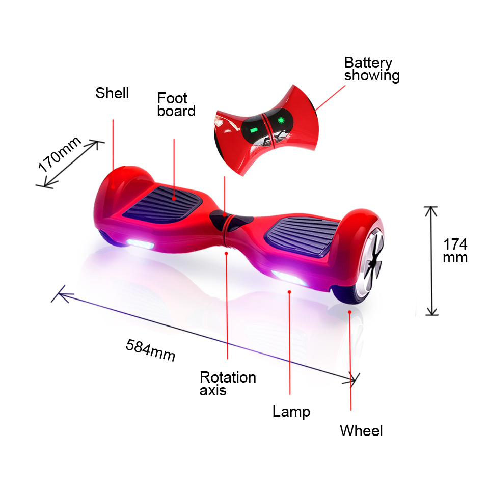 6.5 inch Bluetooth Electric Smart Self Balance Hover Board Scooter Hoverboard Two Wheels Skateboard European warehouse (1)