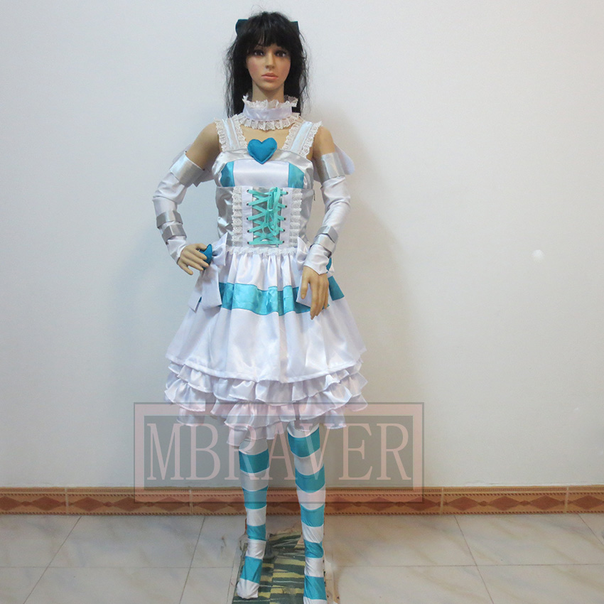18ca1a325 Panty   Stocking with Garterbelt Stocking Cosplay Costume Custom Made Any  Size on Aliexpress.com