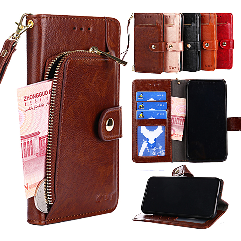 PU cuero cartera Flip caso de la cubierta del teléfono para Motorola MOTO G6 G5S G5 G4 E5 C plus E5 Z2 Z3 jugar X4 con soporte y ranuras de tarjeta
