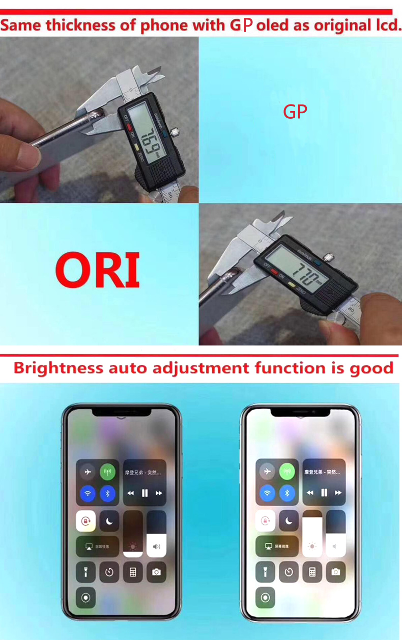 iPhone X LCD Display 5.8'' Pantalla Black Touch Screen Digitizer Assembly (3)