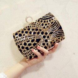Luxo cristal noite saco artesanal lantejoulas de ouro strass feminino sacos de noite cetim do vintage senhora festa casamento embreagem bolsa