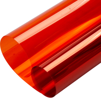 HOHOFILM 1.52x10m Orange Decorative Window Film Privacy Decoration UV Proof Film Window Film Glass Stickers 60''x33ft