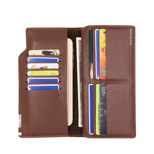 Men's Wallet High Quality Wallet Long Wallets Men business  Card Holder for Men Trifold Purse Fashion Multifunction Male Wallet