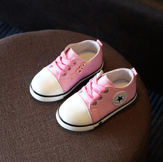 Kids Toddler Shoes New Baby Shoes Breathable Canvas Shoes 1-3 Years Old Boys Shoes 4 Color Comfortable Girls Baby Sneakers