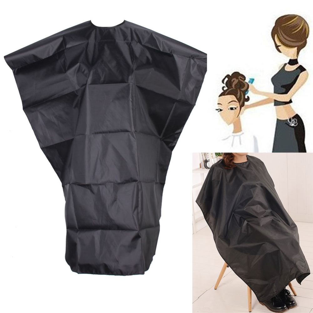 Salon Hair Cutting Cape Apron Adult Hair Cut Hairdressing Waterproof Cloth Barber Cape Hairdresser Hair Styling Gown Wrap Black