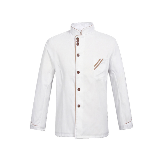Black and White Chef Jacket Uniforms Full Sleeve Cook Clothes Food ...